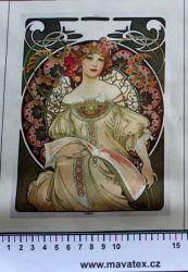 Panelový tisk - A. Mucha - obrázky na látce, designový tisk, tisk na přání Tukan