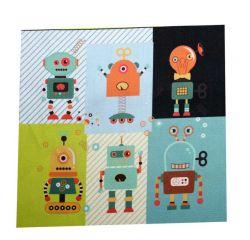 Panelový tisk - roboti malý