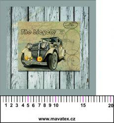 Panelový tisk - staré auto na zdi