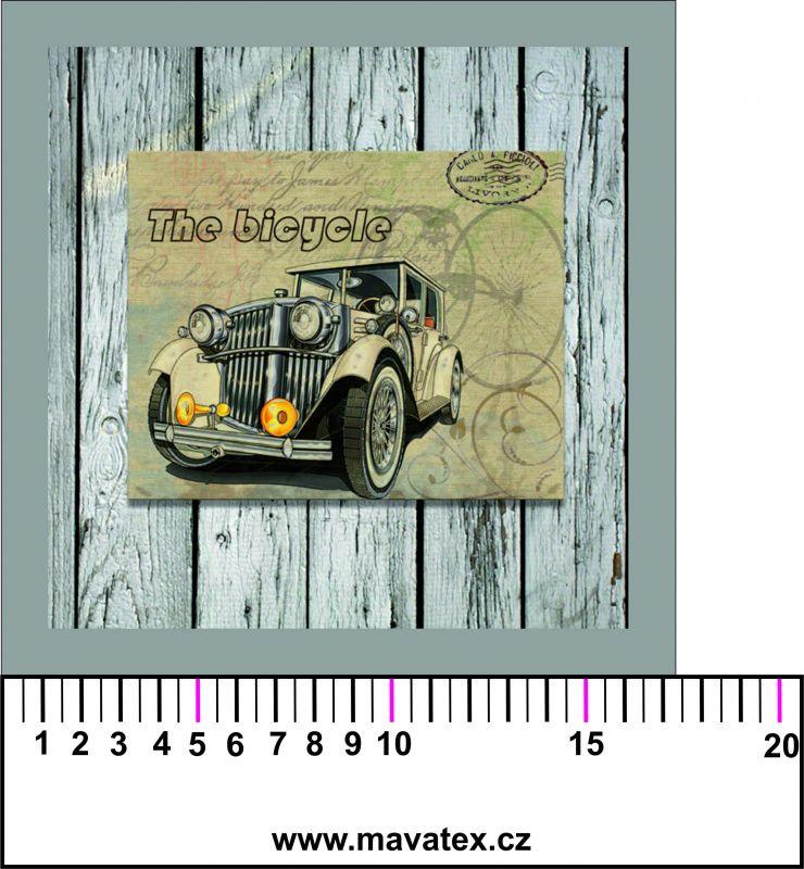 Panelový tisk - staré auto na zdi- obrázky na látce, designový tisk, tisk na přání Tukan