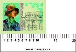 Panelový tisk - dívka s kloboukem koláž - malý
