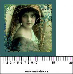 Panelový tisk - vintage dívka v zrcadle