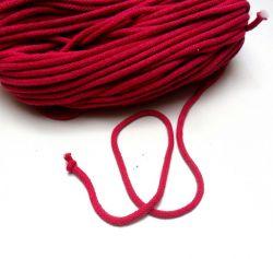 Oděvní tkanice malinová- kulatá bavlněná