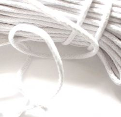 Oděvní tkanice bílá- kulatá bavlněná