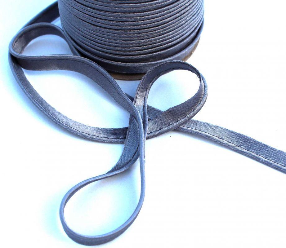 Saténová paspulka šedivá 0,3 cm PPO