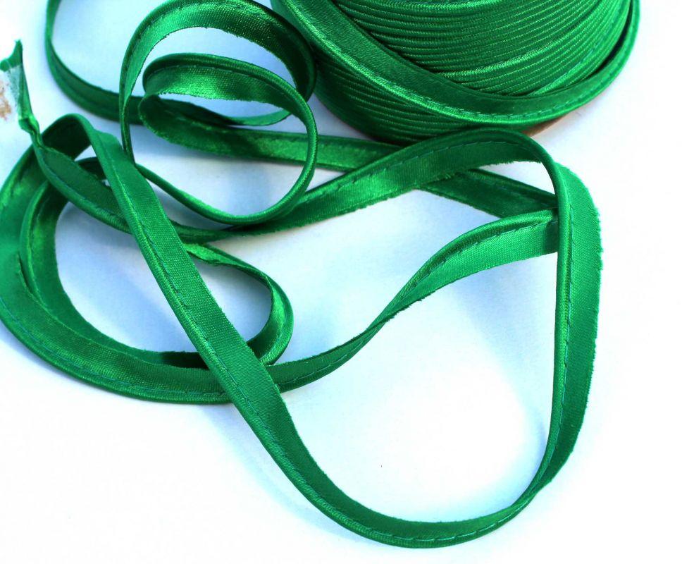 Saténová paspulka zelená 0,3 cm PPO