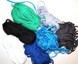 Plochá tkanice zelená 1cm -tkanice k teplákům, stahovací tkanice, šňůrka na stahování kalhot vyrobeno v EU