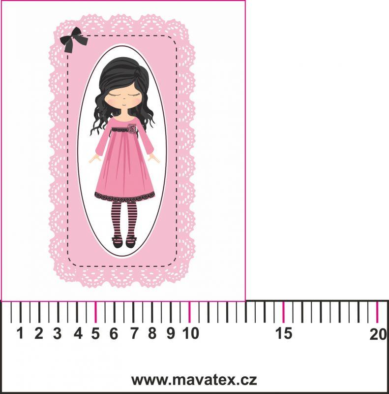 holčička velká - aplikace k našití Tukan
