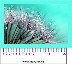 Panelový tisk - rosa na květině -satén