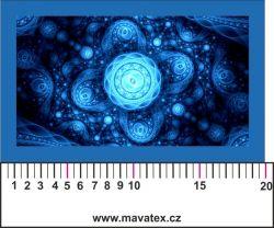 Panelový tisk - modrý vesmír