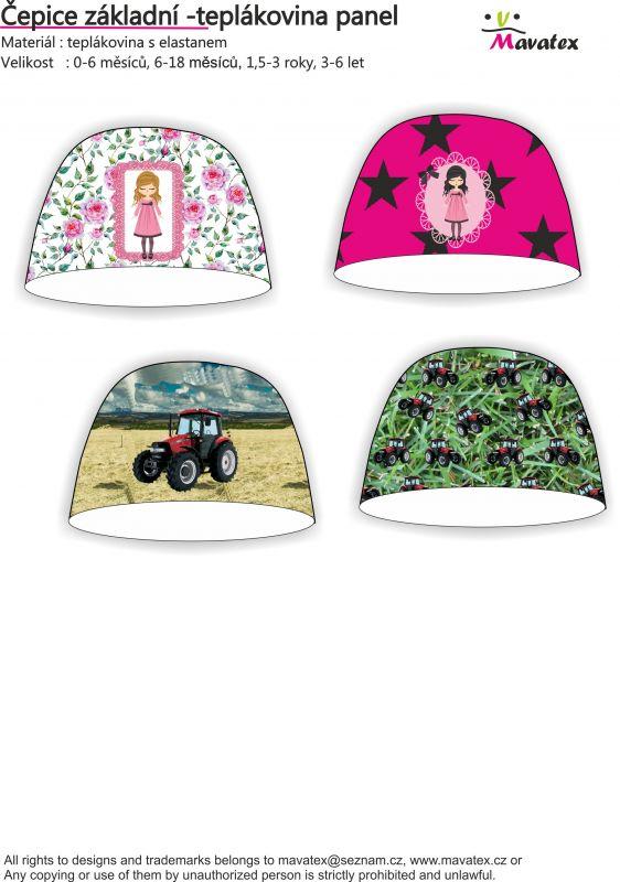 Návody šití čepice, šijeme pro děti, čepice dětská, čepice s hvězdami, návod na šití Mavatex