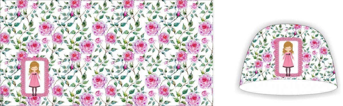 Panel na čepice - růžičky se zdišenkou- my craft aplikace k našití Tukan