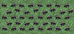 Panel na čepice - traktory na louce