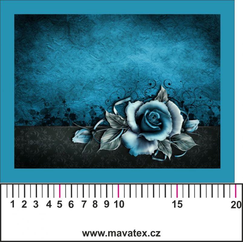Panelový tisk - modrá růže - obrázky na látce, designový tisk, tisk na přání Tukan
