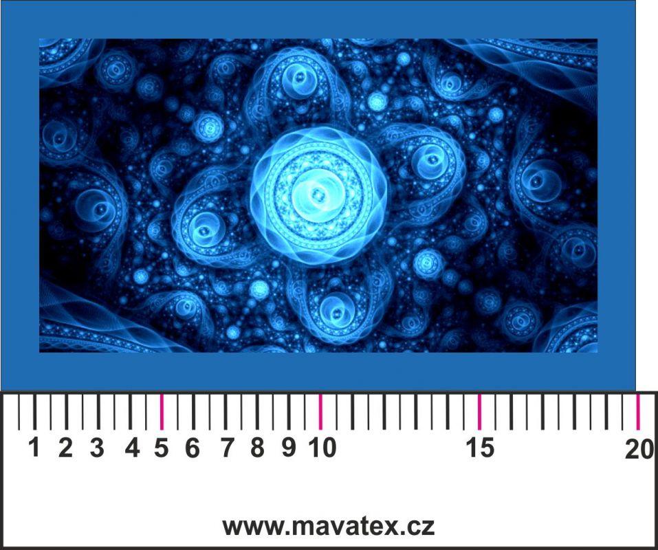 Panelový tisk - modrý vesmír - obrázky na látce, designový tisk, tisk na přání Tukan