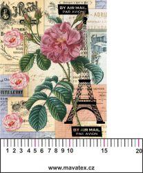 Panelový tisk-koláž Paříž - satén