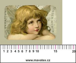 Panelový tisk - vintage anděl 3- satén