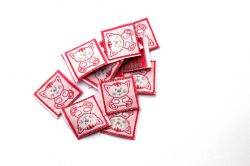 nášivka kočička růžová - dětská stuha, dětská nášivka PPO