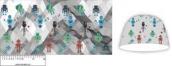 Panel na čepice - roboti 1- my craft aplikace k našití Tukan
