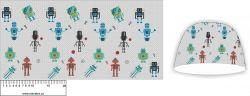 Panel na čepice - roboti 1