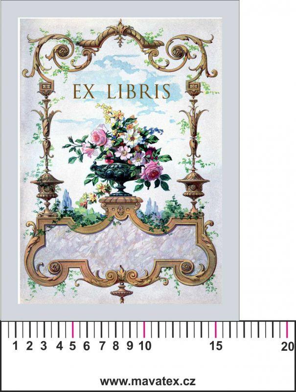Panelový tisk -EX libris -kepr - obrázky na látce, designový tisk, tisk na přání Tukan