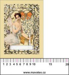 Panelový tisk vintage pohlednice víla 1- kepr