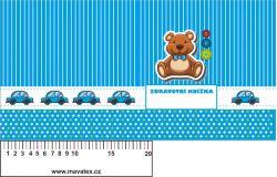 Zdravotní průkaz modrý s medvídkem