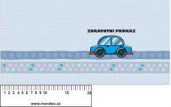 Zdravotní průkaz modré autíčko