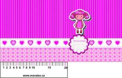 Zdravotní průkaz růžový holčička