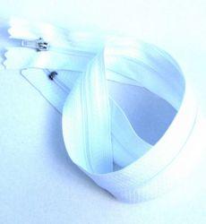 Bílý zip  - 35 cm