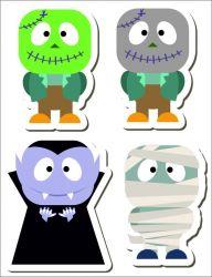 set strašidláci- aplikace k našití- satén