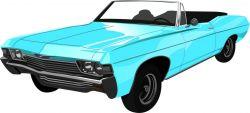 auto modré - aplikace k našití - satén