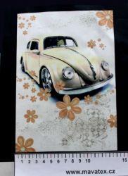 Panelový tisk - brouk s květinami - obrázky na látce, designový tisk, tisk na přání Tukan