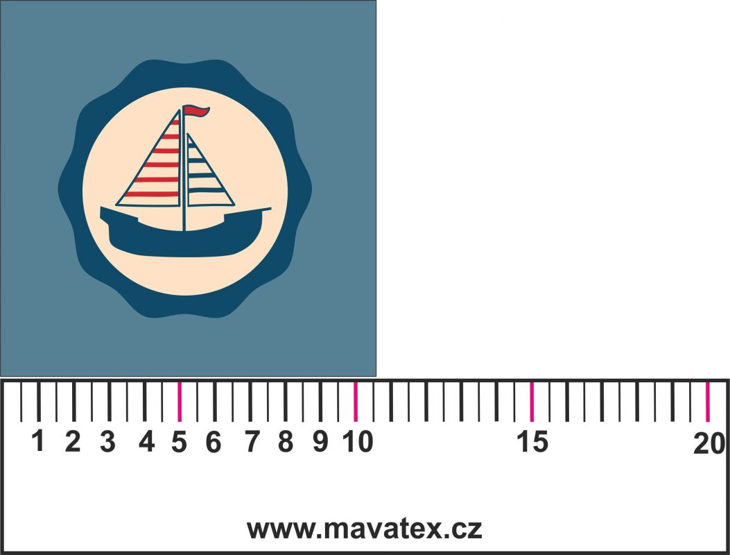 Panelový tisk - loďka- tisk obrázků, obrázky na látce Tukan