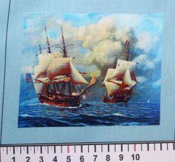 Panelový tisk - dvě lodě na moři-kepr