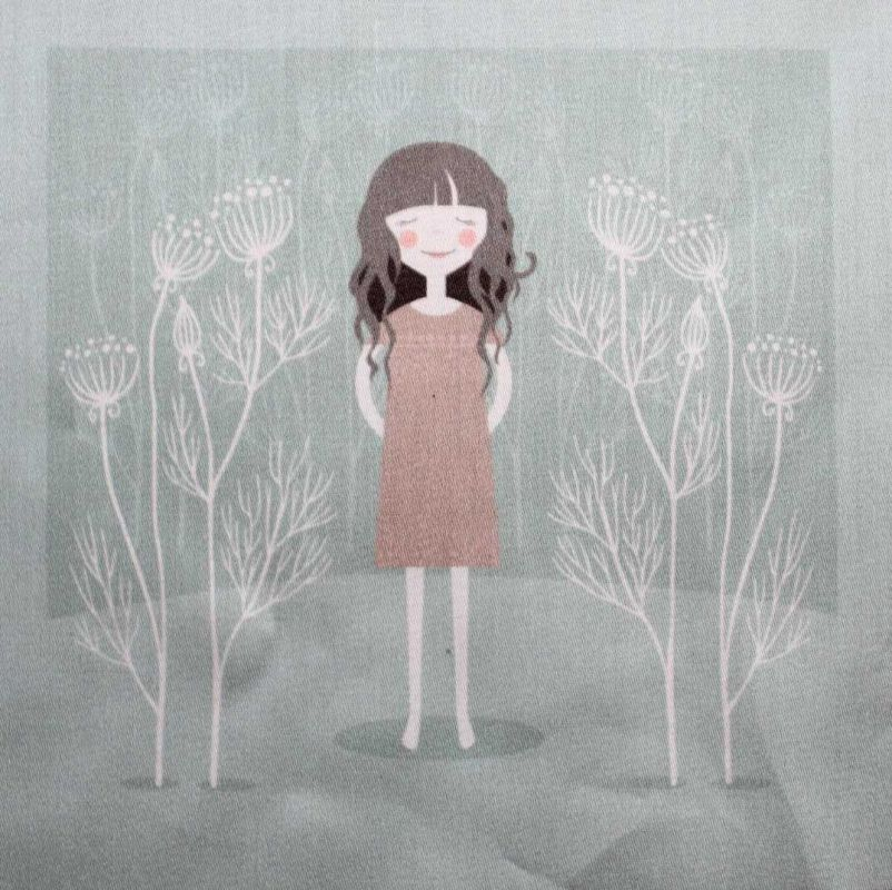 Panelový tisk - holčička - obrázky na látce, designový tisk, tisk na přání Tukan