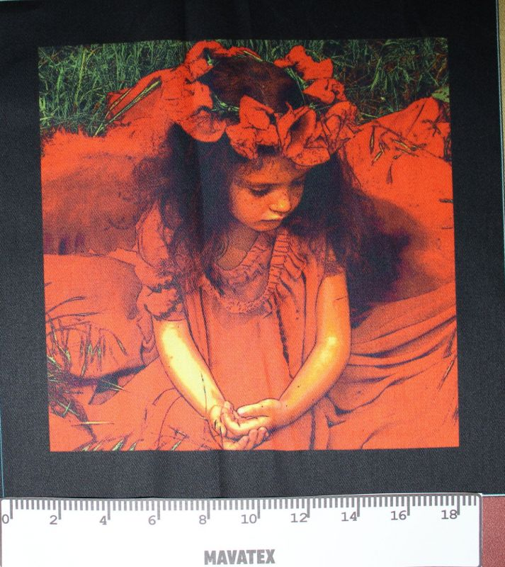 Panel červená karkulka s vlčími máky-kepr- obrázky na látce Tukan