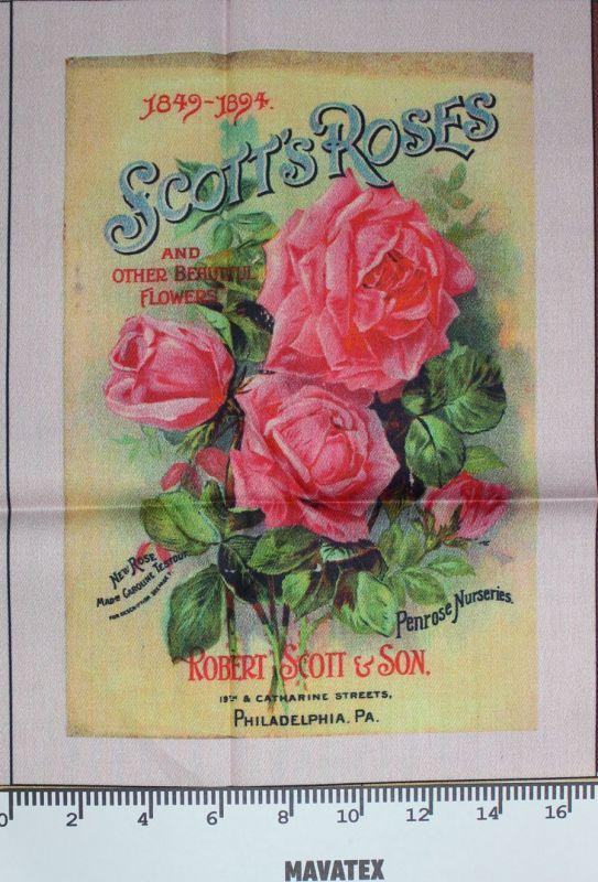Panel skotská růže-, tisk obrázků, obrázky na látce Tukan