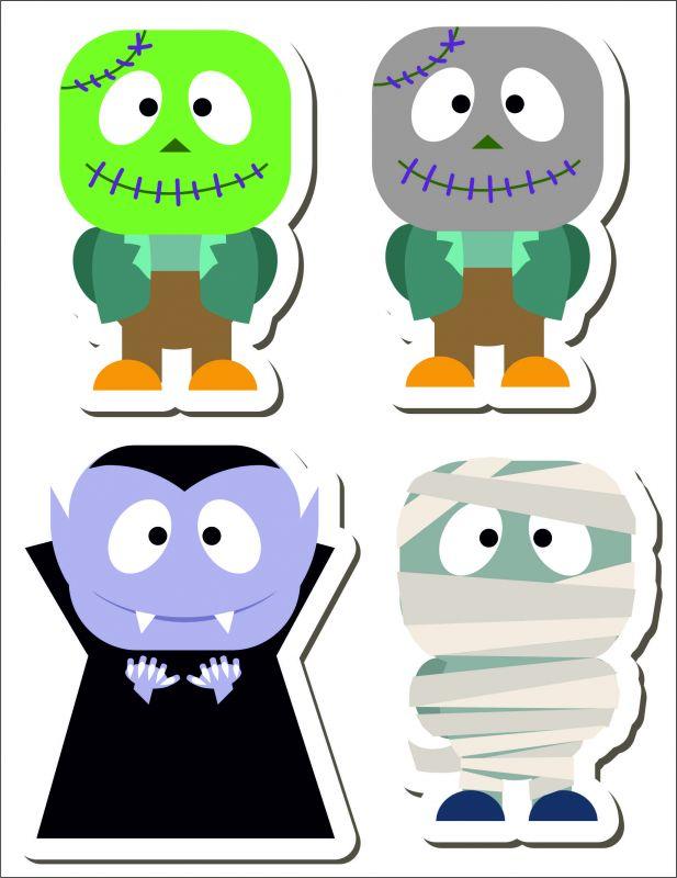 set strašidláci- aplikace k našití vyrobeno v EU- atest pro děti bavlna