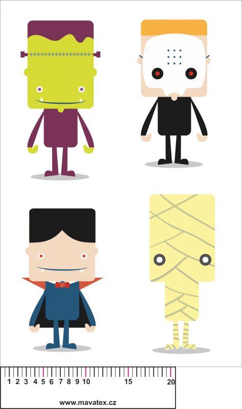 set zombíci- aplikace k našití vyrobeno v EU- atest pro děti bavlna