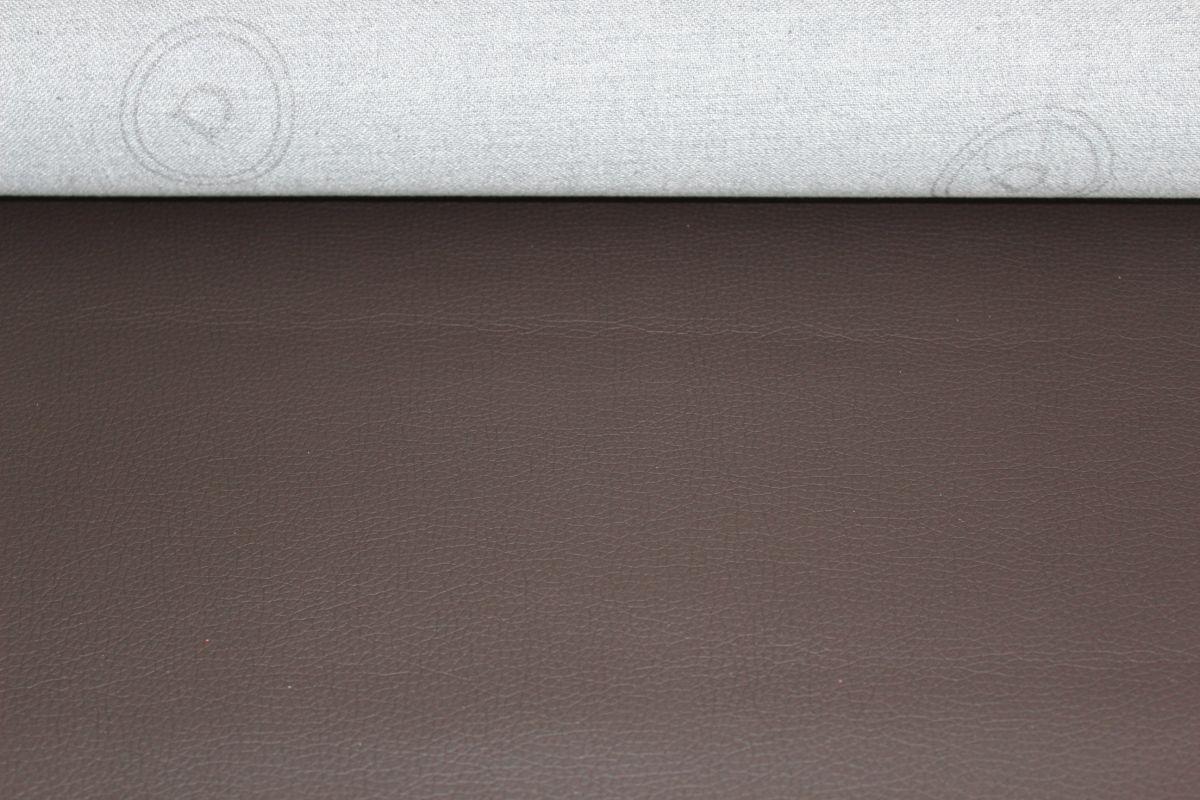 Koženka tmavě hnědá - imitace kůže- látka na tašky vyrobeno v EU