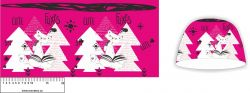 Panel na čepice - liška- my craft aplikace k našití Tukan