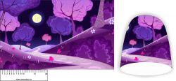 Panel na čepice SKEJŤAČKA - fialový les Mavatex