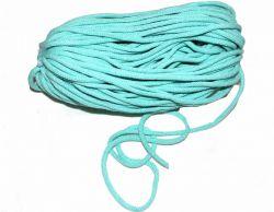 Oděvní tkanice světle modrá- kulatá bavlněná