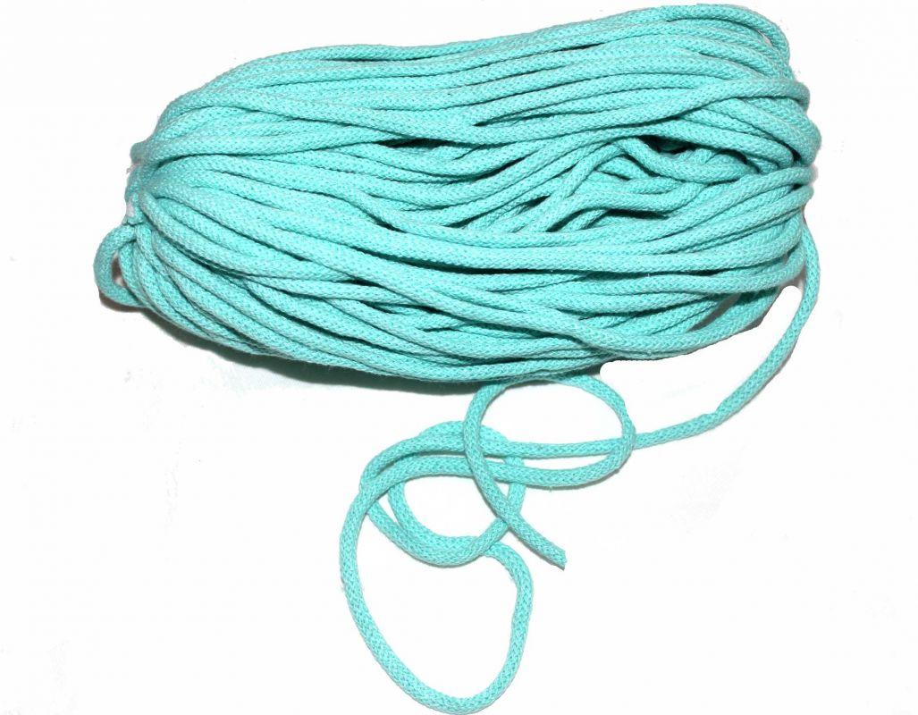 Oděvní tkanice světle modrá- kulatá bavlněná- tkanice k teplákům, stahovací tkanice, šňůrka na stahování kalhot vyrobeno v EU