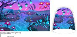Panel na čepice SKEJŤAČKA - fialový les