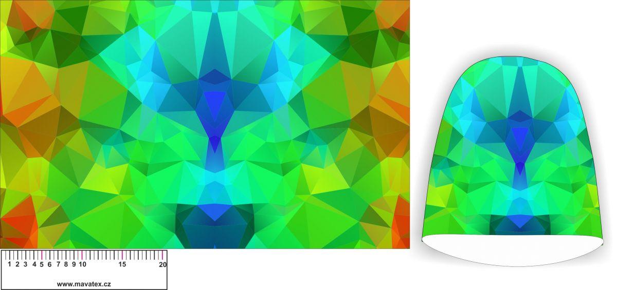 PPanel na čepice SKEJŤAČKA - zelené sklo- my craft aplikace k našití Mavatex