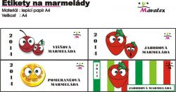 etikety na marmelády