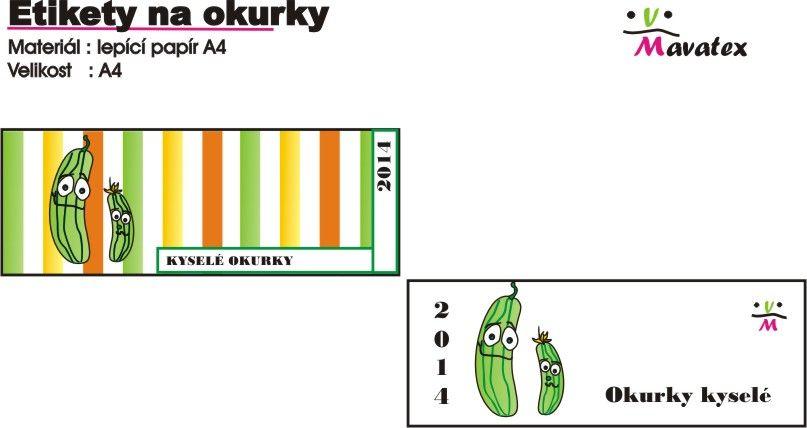 etikety na okurky