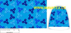 Panel na čepice SKEJŤAČKA - spinery modrý s modrými